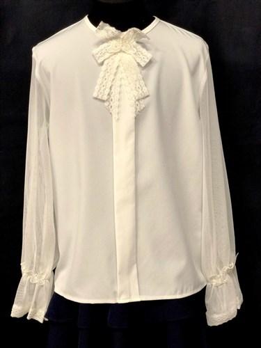 AGATKA блузка длин.рук.  кремовая (р.140-170) 6 шт. - фото 23021