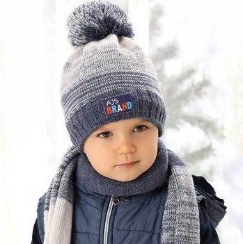 .AJS комплект 38-476 шапка подкл.флис+шарф (р.50-52) - фото 23328
