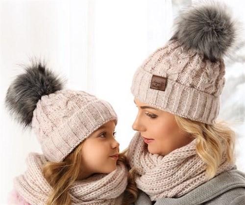 .AJS комплект 38-499 шапка подкл.флис + снуд (р.52-54) - фото 23360