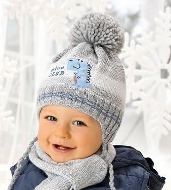 .AJS комплект 38-449 шапка подкл.флис+шарф (р.44-46) - фото 23382