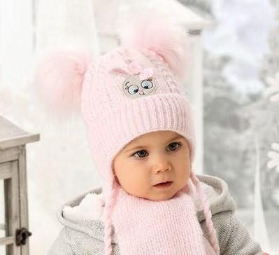 .AJS комплект 38-410 шапка подклад флис + шарф (р.44-46) - фото 23566