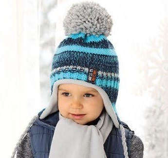 .AJS комплект 38-473 шапка  вязка подклад флис+ шарф (р.50-52) - фото 23574