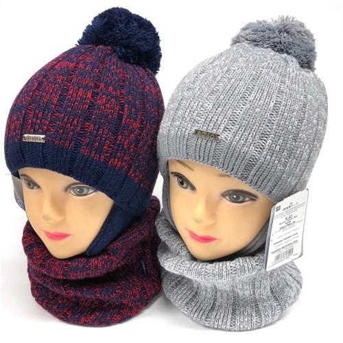 AGBO комплект 2419 Emiro3 шапка с утеплителем, подклад хлопок+снуд (р.46-48) - фото 23653