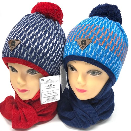 AGBO комплект 2426 Istan1 шапка с утеплит.подкл.хлопок+шарф (р.50-52) - фото 23654
