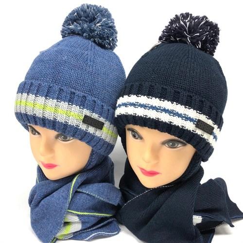 Barbaras комплект AV 206/HE ISOSOFT шапка, х/б подкл. + шарф (р50-52) - фото 23848