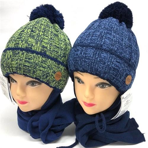 AGBO комплект 2489 Arkadiusz шапка подкл.утепл+шарф (р.50-52) - фото 23862