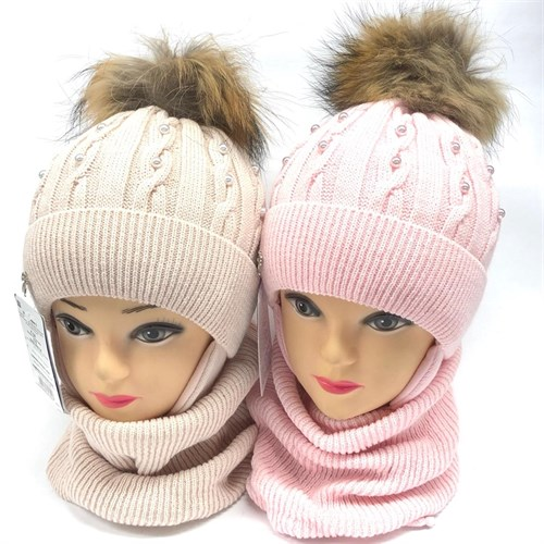 AGBO комплект 2318 Dobrawa шапка с утеплит.подкл.хлопок+снуд (р.50-52) - фото 23917
