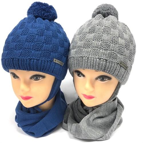 Grans комплект A989 ST шапка с утеплит.+шарф (р.46-48) - фото 23932