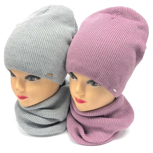 Grans комплект A 970 Fbez шапка на флисе +снуд (р.52-54) - фото 23938
