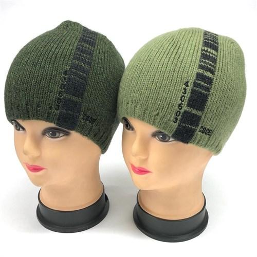amal шапка одинарная толстая вязка (code) (р.52-54) зеленые - фото 24057