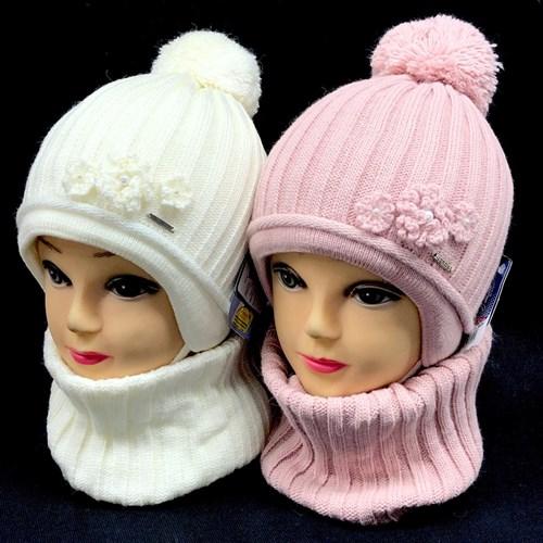 GRANS комплект A 952 ST шапка на утеплителе + снуд (р.50-52) - фото 24072