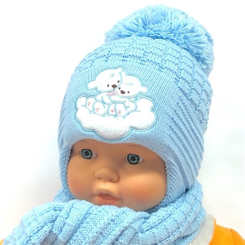 Прикиндер комплект UK1-1235 шапка с утеплителем + шарф (р.42-44) - фото 24485