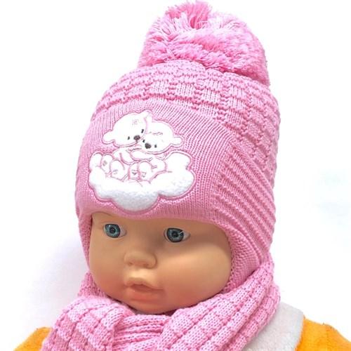 Прикиндер комплект UK1-1235 шапка с утеплителем + шарф (р.42-44) - фото 24487