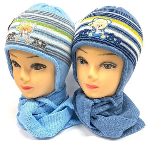 Politano комплект: шапка двойная вязка+ шарф (р.48-50) - фото 24954