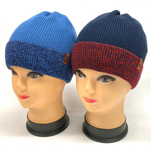 GRANS шапка K 508 вязка подклад хлопок (р.50-52) - фото 25259