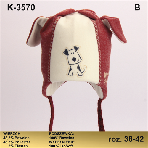 Magrof шапка KOD-3570 ISOSOFT подклад хлопок (р.38-44) - фото 25622