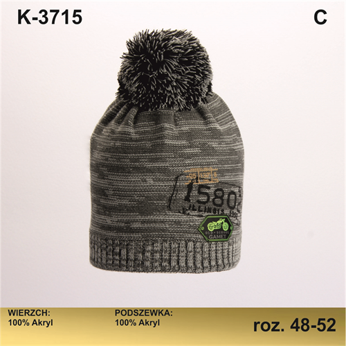 Magrof шапка KOD-3715 двойная вязка (р.48-54) - фото 25670