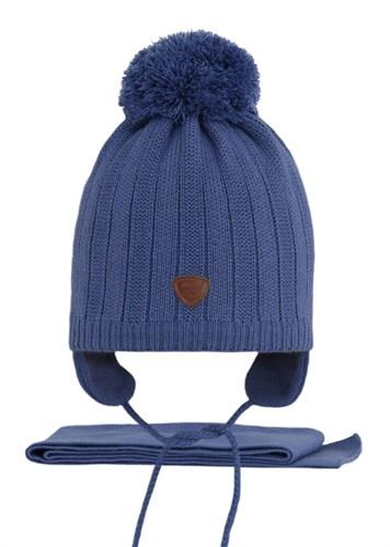 AGBO комплект 2615 Dolar3 шапка вязаная, подклад флис + шарф (р.50-52) - фото 25810