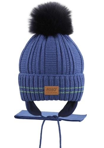 AGBO комплект 2281 Anders шапка с утеплит.+шарф (р.48-50) - фото 25907