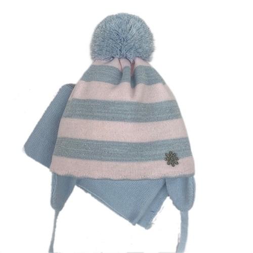 GRANS комплект A 930 ST шапка с утеплителем, подклад хлопок + шарф (р.42-44) - фото 26280