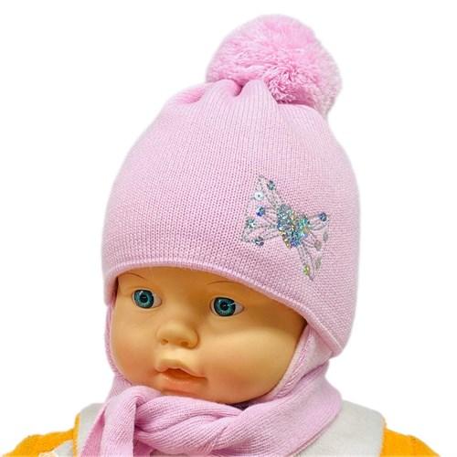 GRANS комплект A 904 ST шапка с утеплителем, подклад хлопок + шарф (р.40-42) - фото 26304