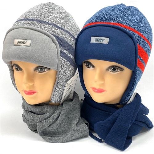 AGBO комплект 1375 TOLEDO шапка с утепл.+шарф (р.50-52) - фото 26349