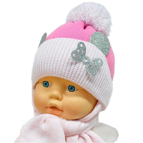 GRANS комплект A 933 ST шапка с утеплителем, подклад хлопок + шарф (р.42-44) - фото 26462