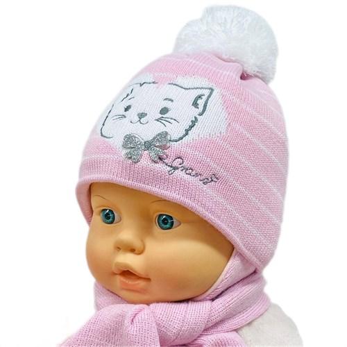 GRANS комплект A 934ST шапка на утеплителе + шарф (р.42-44) - фото 26464