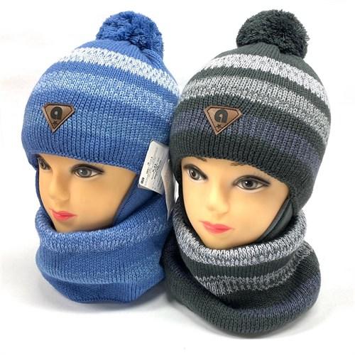 AGBO комплект 2534 Rewi шапка с утеплителем, подклад хлопок+снуд (р.46-48) - фото 26504