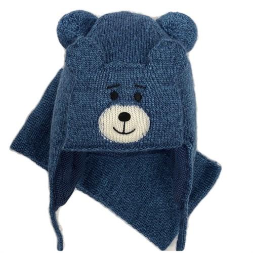 amal  шапка с утеплителем + шарф (р.48-50) мишутка - фото 26593