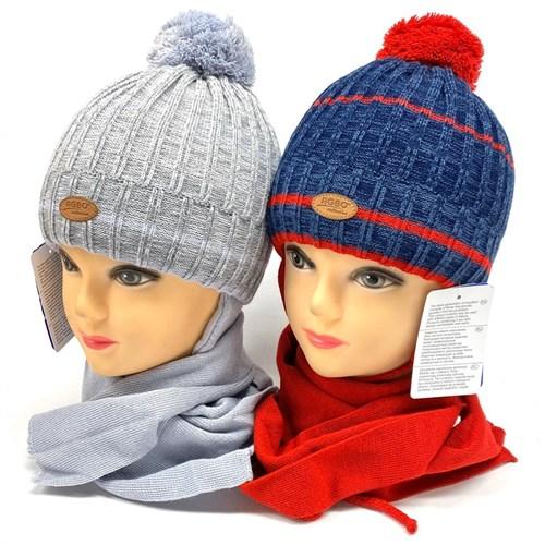 AGBO комплект 2159 Topos шапка с утеплителем, подклад хлопок+шарф (р.50-52) - фото 26827