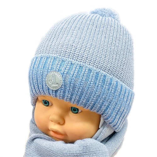 AGBO комплект 2537 Tenor шапка с утеплителем, подклад хлопок + шарф (р.42-44) - фото 26835