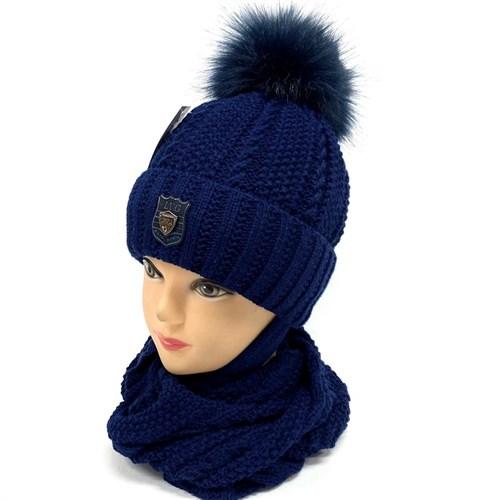 LVG шапка с утеплителем, подклад х/б + снуд (р.52-54) - фото 26915