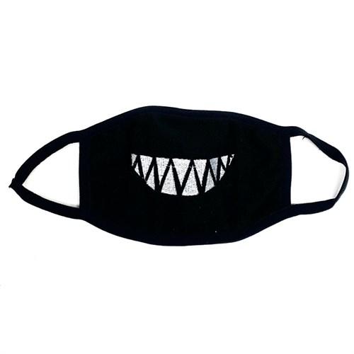 маска на лицо (флис+трикотаж) - острая улыбка - фото 27004