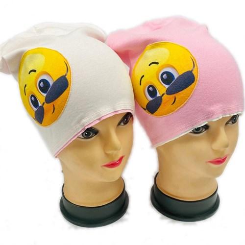 ambra шапка двойной трикотаж смайл (р.52-54) - фото 27024