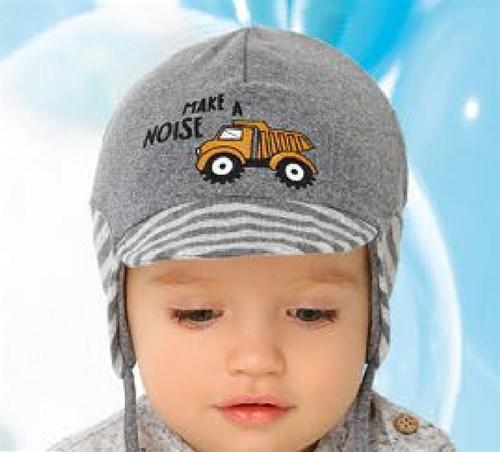 .AJS шапка с козырьком 40-057 двойной трикотаж (р.44-46, 48-50) - фото 27122