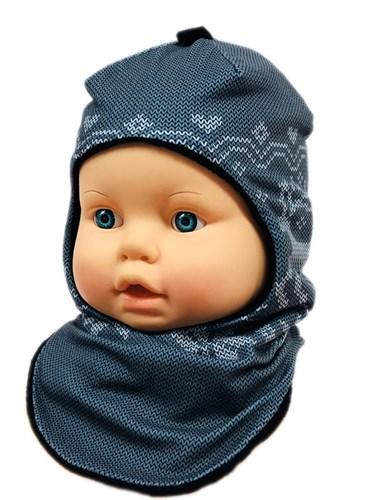 ambra шлем Олени для мальчика подклад флис (р.48-50) - фото 27945