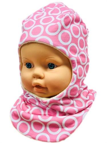 ambra шлем Колечки для девочки подклад флис (р.48-50) - фото 27946