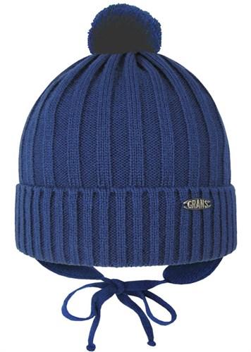 GRANS шапка Ku 445 вязка подклад хлопок (р.50-52) - фото 28059
