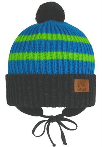 GRANS шапка Ku 447 вязаная, подклад хлопок (р.48-50) - фото 28061