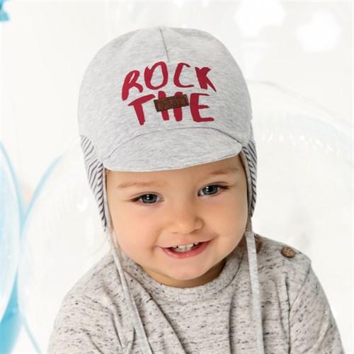 .AJS шапка с козырьком 40-122 двойной трикотаж (р.44-46, 48-50, 52-54) - фото 28082