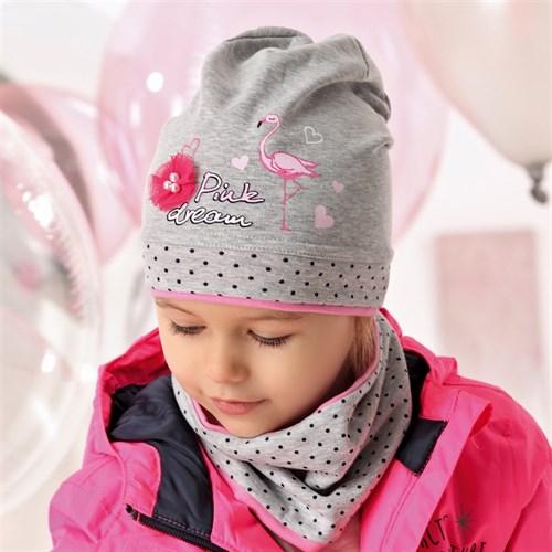 .AJS комплект 40-096M шапка одинарный трикотаж + снуд (р.48-50) - фото 28177