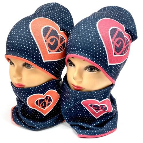 ambra комплект шапка двойной трикотаж + снуд (р.52-54) - фото 28300