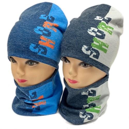 ambra комплект шапка двойной трикотаж + снуд (р.50-54) SHORE - фото 28308