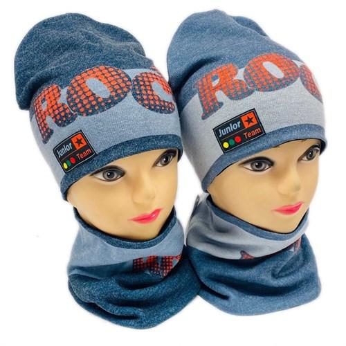 ambra комплект шапка двойной трикотаж + снуд (р.50-54) Rock - фото 28309