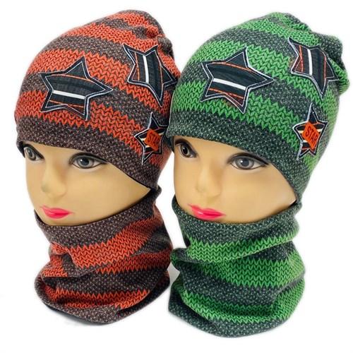 ambra комплект шапка двойной трикотаж + снуд (р.50-54) STAR - фото 28322