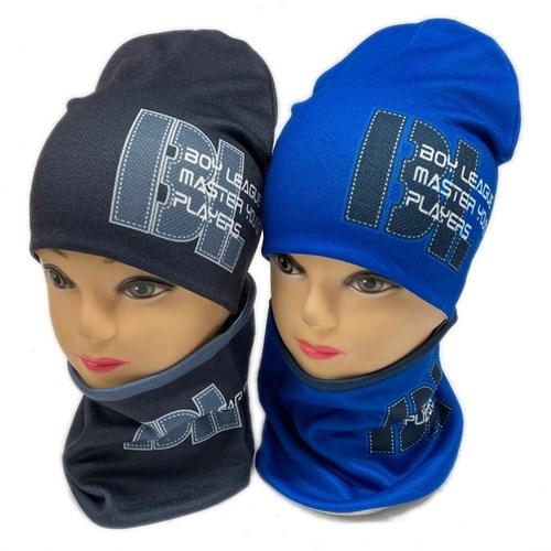 ambra комплект шапка двойной трикотаж+снуд (р.50-52) Boy League - фото 28355