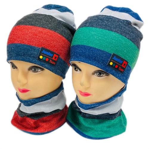 ambra комплект шапка двойной трикотаж + снуд (р.50-52) Junior Team - фото 28358
