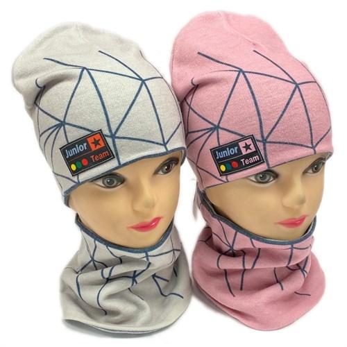 ambra комплект шапка двойной трикотаж + снуд (р.50-54) Джуниор тим - фото 28360