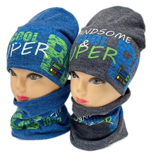 ambra комплект шапка двойной трикотаж + снуд (р.50-54) Handsome cool - фото 28369